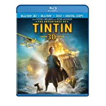 The Adventures of Tintin (Three-Disc Combo: Blu-ray 3D / Blu-ray / DVD / Digital Copy) by Paramount Pictures