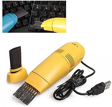 Mini aspiradora para portátil con conexión USB Teclado aspiradora Sweeper/ Aspirador atrapa el Polvo colector de Polvo (Color al Azar): Amazon.es: Electrónica