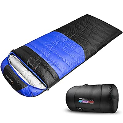 Emarth Winter Cold Weather Sleeping Bag( -22 F ~ 41 F), Large Waterproof Comfort Sleeping Bags with Compression Sack for Camping, Hiking, Traveling, Backpacking, Outdoor Activities-(Single)