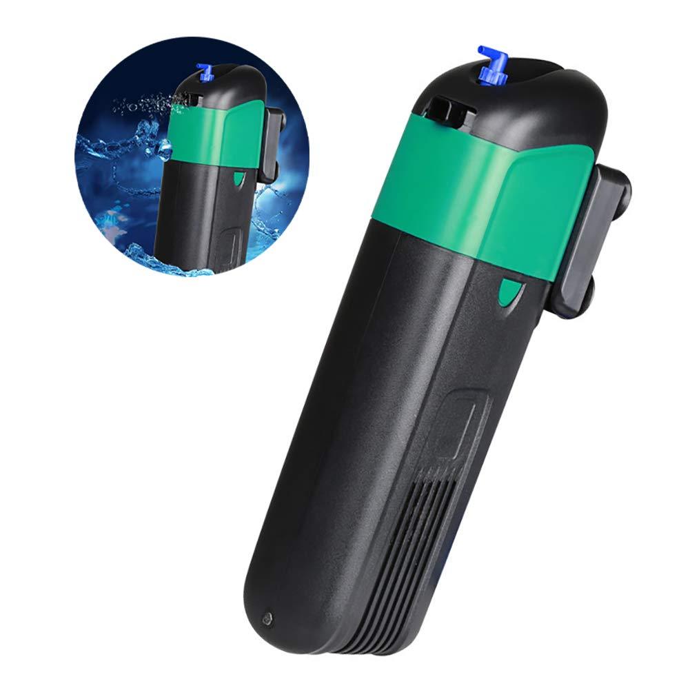 9W Sterilizer Submersible Filter Pump Internal Uv Sterilizer Filter Aquarium Tank Uv Light Submersible Ultrapurple Disinfection Pump Suitable for All Kinds of Fish Tanks