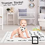 Sweet-Baby-Carrot-Monthly-Milestone-Blanket-Including-Drool-Bib-1-to-12-Months-100-Organic-Fleece-Extra-Soft-Best-Baby-Shower-Gift-Backdrop-Photo-for-Boy-Girl-47-x-47