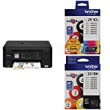 Brother Printer MFCJ460DW Wireless Color Inkjet Printer with Scanner, Copier & Fax, Amazon Dash Replenishment Enabled and C/M/Y and Black Pack Ink