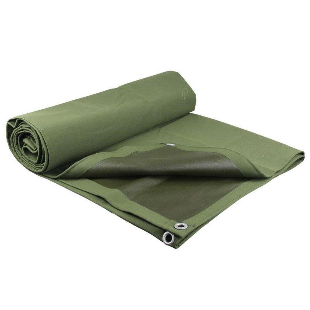 CHAOXIANG オーニング 厚い 折りたたみ可能 キャンバス 防水 耐寒性 アンチサン シェード 耐摩耗性 耐食性 防塵の シリコンクロス 緑、 600g/m 2、 厚さ 0.7mm、 13サイズ (色 : 緑, サイズ さいず : 4×8m) B07DC5TPTN 4×8m|緑 緑 4×8m