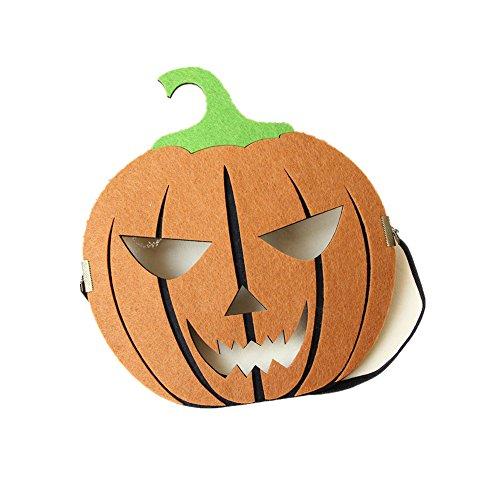 Evil Lamour Full Head Felt Fabric Pumpkin Mask for Men/Women for Party Costume Ball (Jack O Lantern Mask)