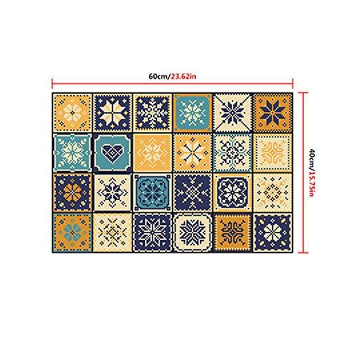 Fostudork Wall Decorations Bathroom, Retro Pattern Tile Floor Sticker 40 * 60cm PVC Bathroom Kitchen Wallpaper Proof…