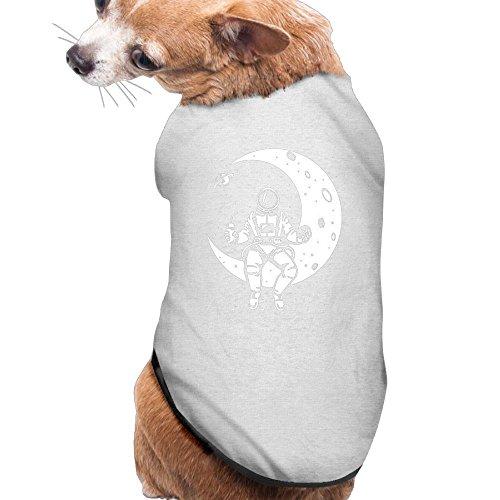 LAUNCH BREAK - Astronaut Nasa Moon Space New Fashion CutePet Shirt Dress Plain Sleeveless New Fashion Cute Best Holiday Gift L Ash