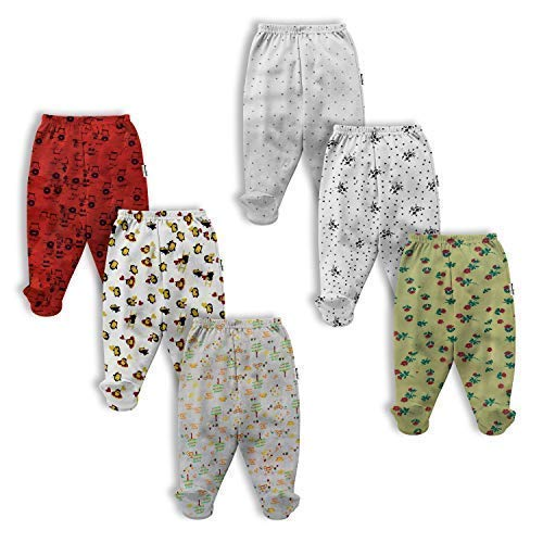 NammaBaby Infants Pajama Leggings with Booties – Set of 6
