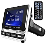 Toogoo FM Transmitter,Car Transmitter MP3 Player Hand-Free Calling Radio Audio Adapter Bluetooth Transmitter Car Kit,USB Charger,TF Card,AUX Port,USB Disk,S/Tablets/GPS Units/iPods