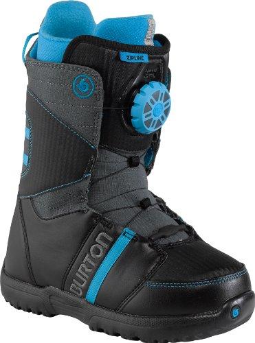 Burton Kinder Snowboardschuhe Snowboard Boots Zipline, black/gray/blue, 6.0, 10642100