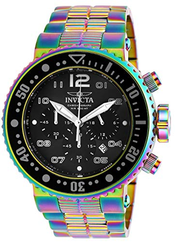 Invicta Men's Pro Diver Quartz Diving Watch with Stainless-Steel Strap, Multi, 29.3 (Model: 25078) ()
