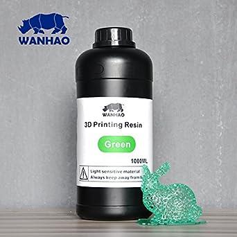 Wanhao 22348 Impresora 3d UV Resin, 1000 ml), color verde ...