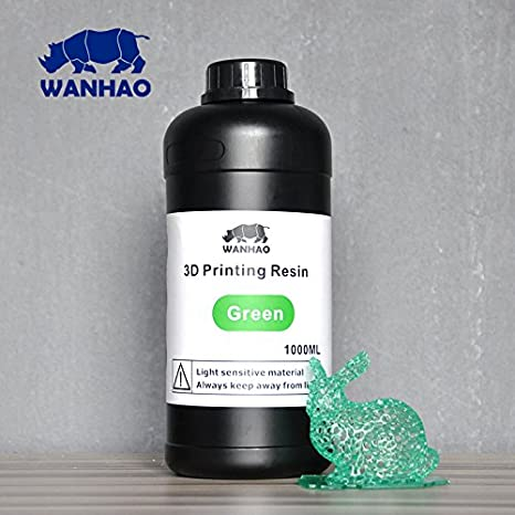 Wanhao 22348 Impresora 3d UV Resin, 1000 ml), color verde: Amazon ...