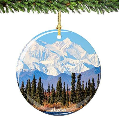 City-Souvenirs Alaska Christmas Ornament, Porcelain 2.75 Inch Alaska Christmas Ornaments