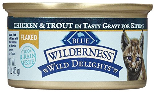 Blue Buffalo Wilderness Wild Delight Flaked Kitten Chicken a