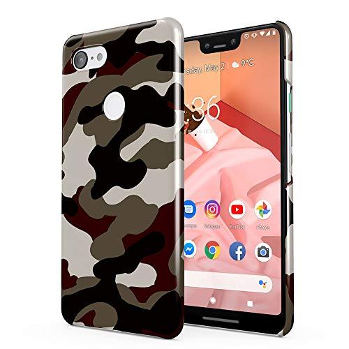 Military Army Camouflage Camo Google Pixel 3 XL Plastic Phone Protective Case Cover (Pixel Gun Best Premium Weapon)