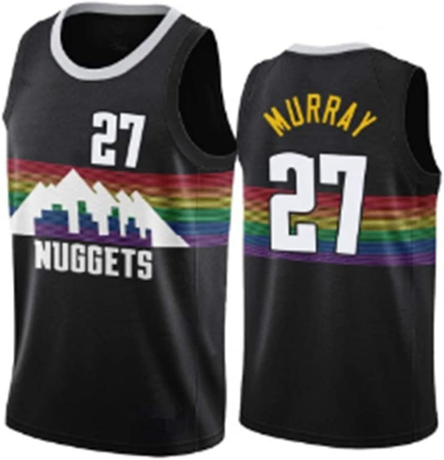 YGYG Camisetas de Baloncesto Jamal Murray # 27 Denver Nuggets, Camiseta sin Mangas Unisex de Malla con Bordado de Baloncesto Swingman Jersey Top-Black-XL(185~190): Amazon.es: Hogar