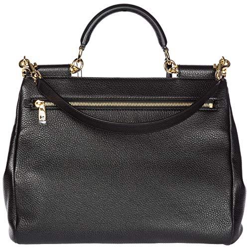Gabbana Dolce main femme tote tote en Sicily sac à noir cuir amp; Bw5q7w6xR