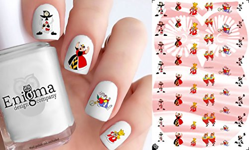 Alice in Wonderland Nail Decals - Vol III (Set of 48) (Clear Water-slide)