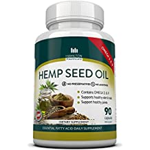 Hemp Seed Oil Capsules with Omega 3, 6, 9 Fatty Acids - Supports Healthy Joints, Skin & Nails - No Worry of Mercury from Fish Oil - by Hamilton Healthcare