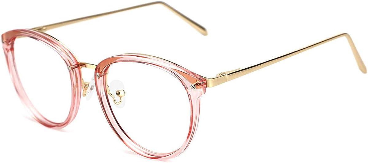 TIJN Rund Brille Ohne Sehst/ärke Brillengestelle Damen Brillenfassung Fake Brille Ohne St/ärke f/ür Herren