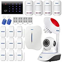 KERUI W1 2.4G WIFI PSTN Internet Telephone Line Wireless Home Alarm Security System With Dialer DIY Kit Support IOS Android APP + Wifi 720P IP Camera