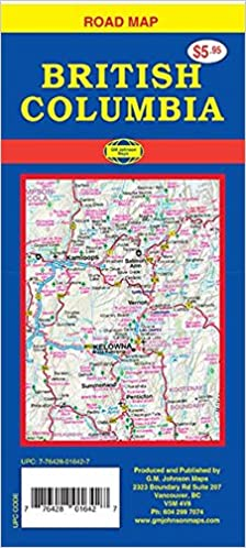 Road Map Of Canada.British Columbia Canada Road Map Lucidmap 9781770685079 Amazon