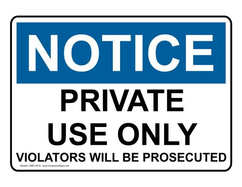 ComplianceSigns Vinyl OSHA NOTICE Label, 14 x 10 in. with Trash / Dumpster Info in English, White