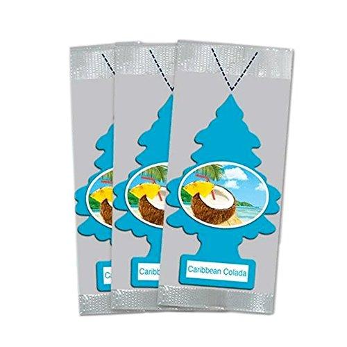 (Little Trees Car Air Freshener 3-PACK (Caribbean)