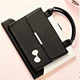 FuriGer iPad 2/3/4 Cover, Portable Lovely Women Handbag Cute Bowknot Slim Fit Synthetic Leather Magnetic Flip Stand Case Cover with Handle & Storage Compartment, Black