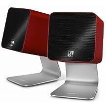 UFi UCube Portable Compact USB Digital Speakers (Red)