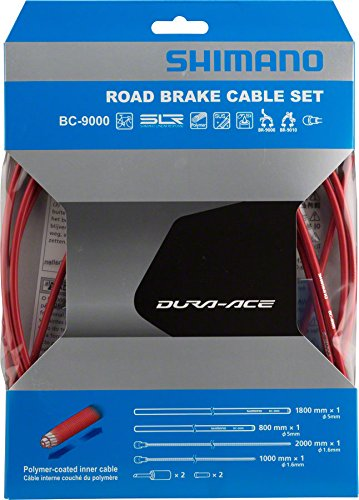 Shimano Polymer Coated Brake Cable Set – Red