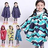 Raincoat poncho raincoats Children's printed thin