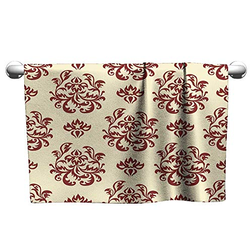 (Baby Beach Towel Retro Wallpaper Series (Seamless) Towel Bath Cool Towel 10 x 40 Inch)