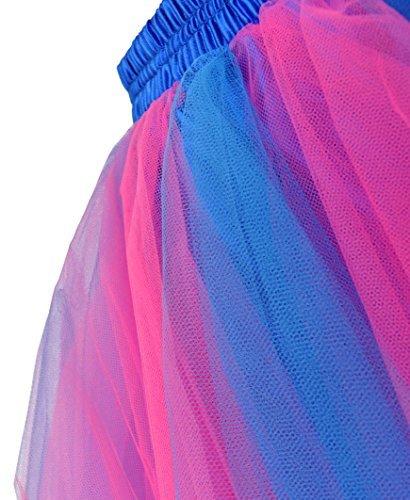 Taille Unique Bleu et Femme Grande Taille Jupe Rtro Dancina Vintage Rose Tutu qOpUxz