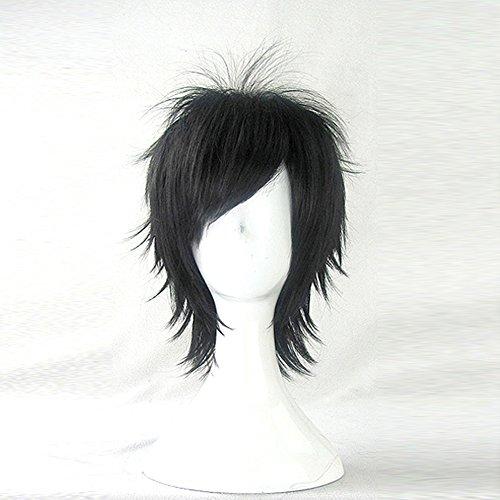 Kazuto Kirigaya Costume (Kirigaya Kazuto Sword Art Online Black Short Cosplay Costume Wig + Free Wig Cap)