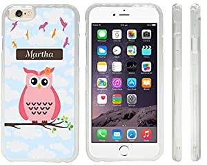 """NADIA Magic Diy """"Martha"""" Name - Cute Pink Owl on Branch with Personalized Name Design iPhone 6 mgmKW2lfmAC case cover for Apple iPhone 6 sell on Zeng case cover"""