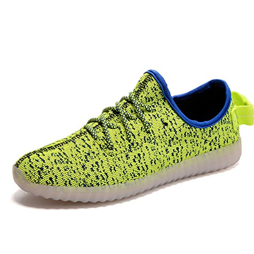 LED Casual Fashion Green Men's Shoes Shoes Luminous PpICq