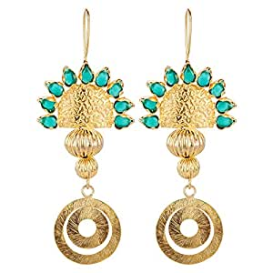 Aurora Women's Alloy Emerald Earring