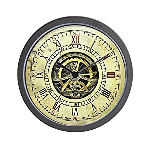 CafePress Vintage Steampunk Unique Decorative 10″ Wall Clock