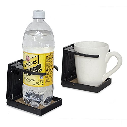 LARGE SIZE Folding Walker/Wheelchair/Rollator Cup Drink Holder (Black)