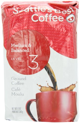 Coffee Tea Seattle (Seattle's Best Level 3 Ground Blend Coffee, Medium Balanced, 12-Ounce (Pack of 2))