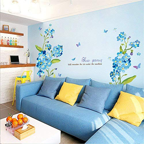 DIY Wall Sticker Wall Decals Crafts Home Decorations The sofa in the living room TV background self adhesive wall sticker romantic marriage room bedroom bed wall decoration flower posters Wallpaper fo