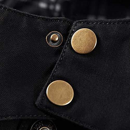 Classique Manteau D'hiver De Mince Veste B Boutons Blousons Parka Noir Chaud Long Hommes Décontracté Manches À Fnkdor Longues IwfRR