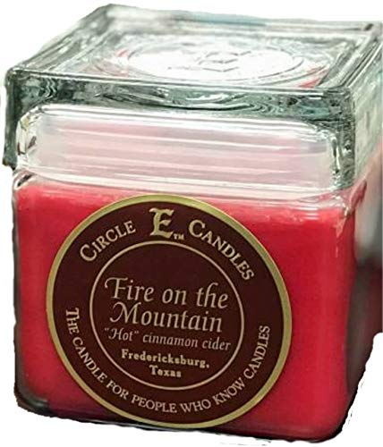 New Circle E Candle Fire on the Mountain Cinnamon Cider 28 Oz Jar 165 Hr Burn Time ()
