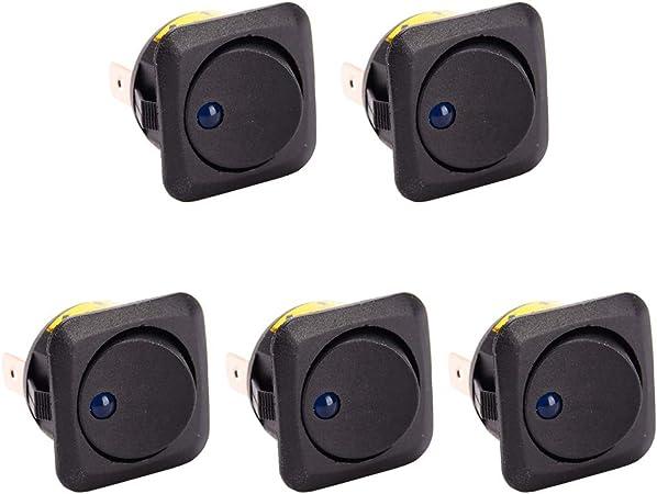 10 X on//off//on Redonda Circular Rocker Switch Car Dash Dashboard Barco 12v SPDT