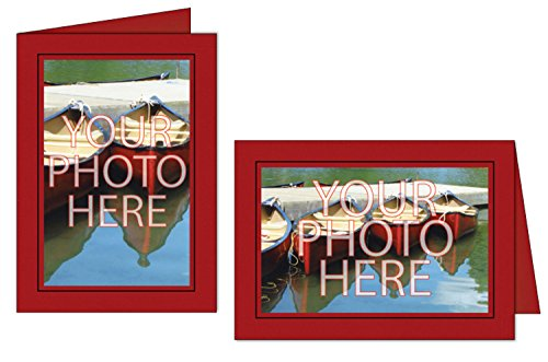 Photographer's Edge, Photo Insert Card, Wild Cherry with Black Border, Set of 10 for 4x6 Photos
