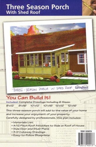 Do it yourself three season porch with shed roof construction do it yourself three season porch with shed roof construction plans solutioingenieria Choice Image