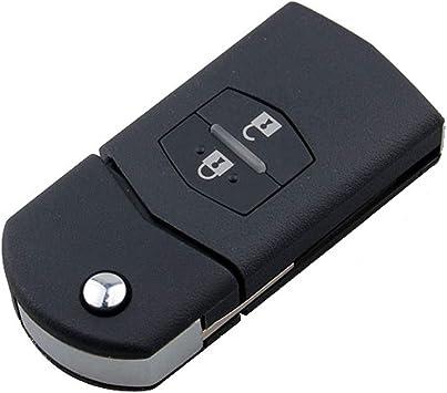 4 BTN Folding Remote Keyless Key Shell Case Fob Housing Fit For Mazda 3 6 MX-5