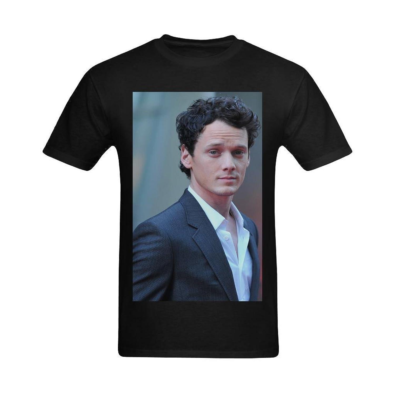 NeloimageMen Handsome Anton Yelchin Image Deisgn T-Shirt