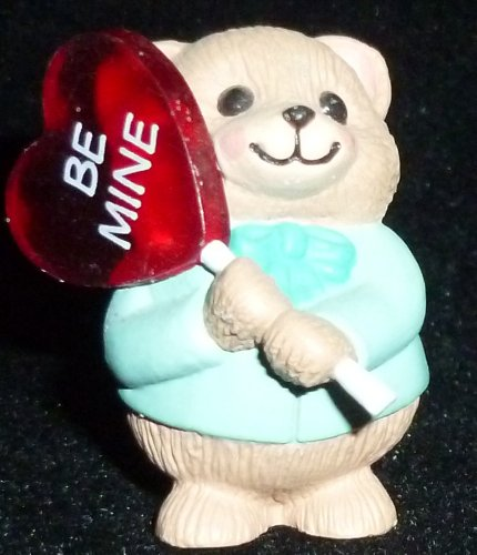 (Hallmark Merry Miniature Valentine's Day Teddy Bear Be Mine Heart Figurine)